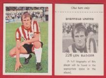 Sheffield United Len Badger